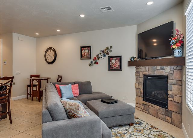 Living Room with TV/Fireplace