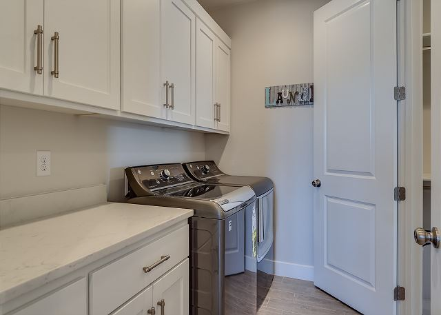Laundry room - full size washer and dryer