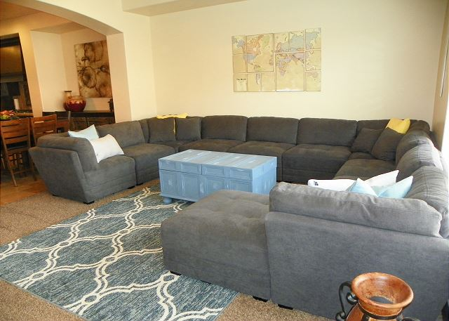 Living Room with TV and seating for 8-10