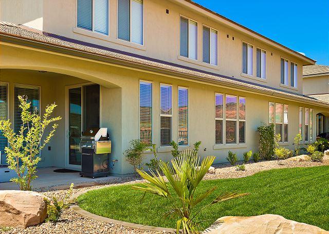 Backyard view to house