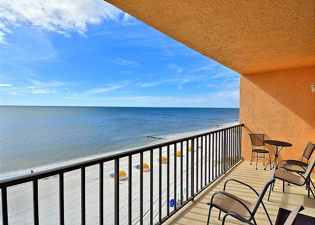 Trillium 5B Beach Front Condo with Private Balcony/Gulf Views/Pool!