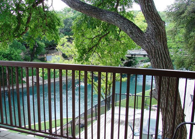 Exceptional view from your own PRIVATE riverfront balcony!