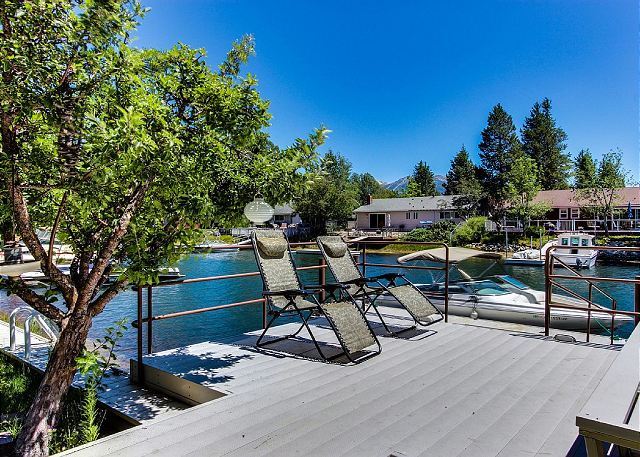Enjoy the sun on this over-water platform leading to your private dock