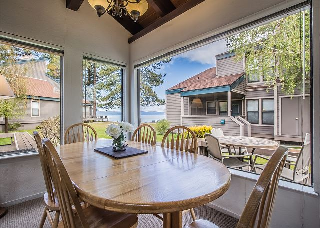 Enjoy your morning coffee while you take in the lake and mountain views from this highly coveted unit in Lakeland Village