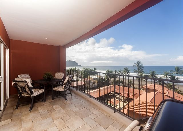 Large Terrace With Panoramic Views Of Jaco Beach At Vacation Al Condo Vista Mar 5c In Costa Rica