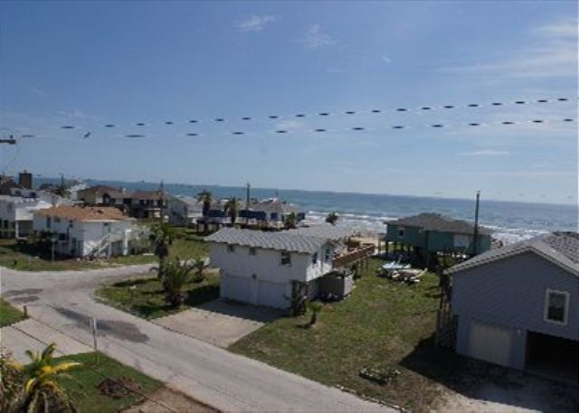 Spacious home has great views of the beach from either of the large decks! - Galveston, Texas