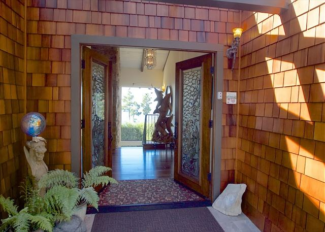 entrance to this lovely home.