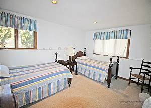 Lower level bedroom four two twin beds