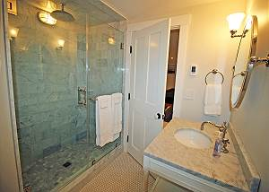 Lower level entertainment room bathroom