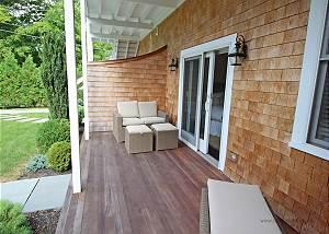 Private back porch