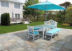 Shared patio for both units