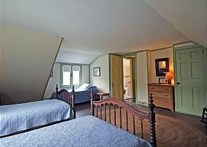 Another view of second floor twin bedroom