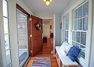 Hallway to first floor suite bedroom