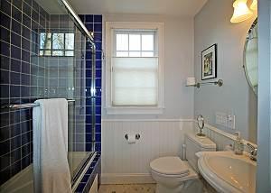 First floor suite bedroom bathroom