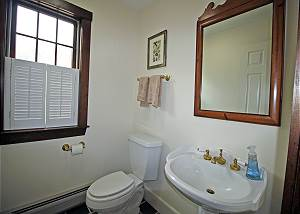 First floor half bathroom