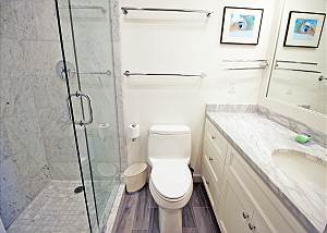 Lower level twin bedroom bath