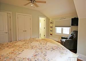 Another view of second floor King bedroom