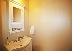 First floor half bathroom