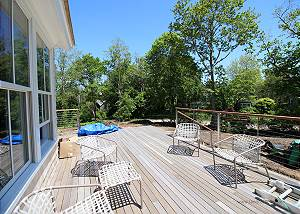 Expansive deck with new furniture to come