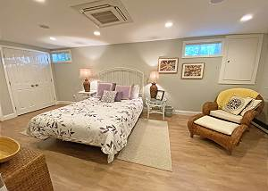 Another view of lower level Queen bedroom