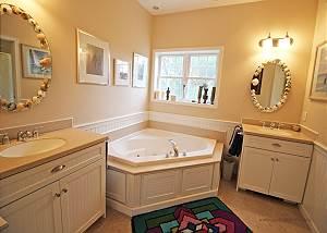 First floor King Master bedroom bathroom