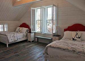 Second floor bedroom in Carriage House