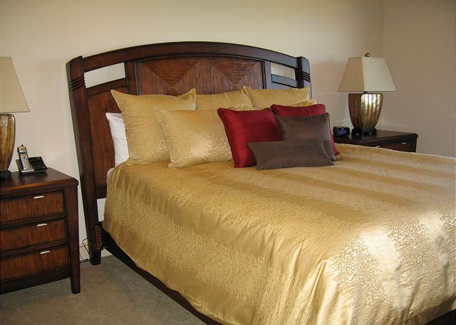 Features luxury king size bed and desk area with FREE WIFI and Flat Panel TV/DVD.