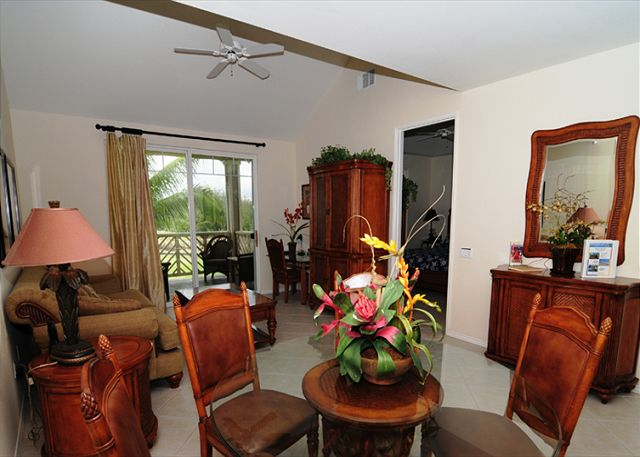 Living Area with Queen Sleeper Sofa and Desk Area with FREE Secure WIFI Access.