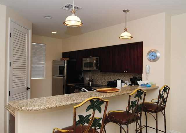 Fully equipped gourmet kitchen includes everything needed to prepare meals for the entire family!