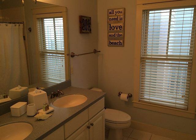 Guest Bath with Dual Sinks (Bath/Shower Combo)