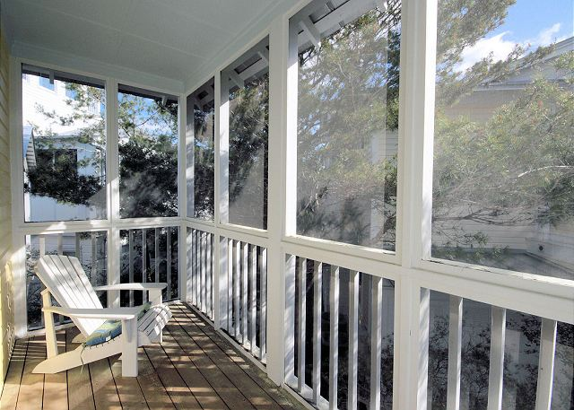 Screened Balcony off Master Bedroom