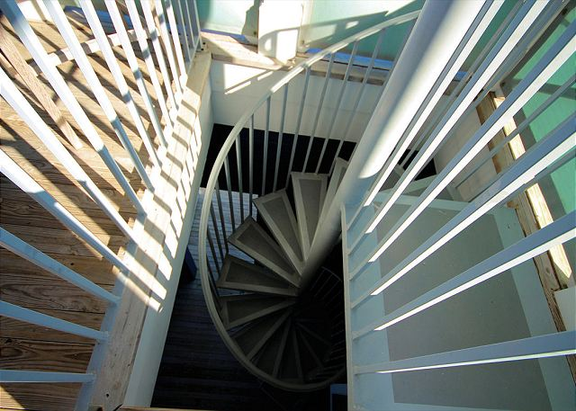 Spiral Staircase to Private Tower