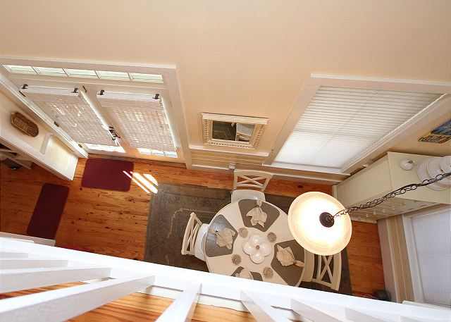 View from Lofted Master to Dining Room