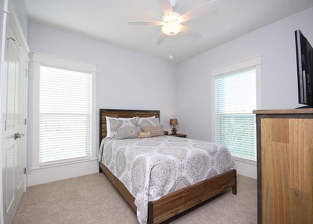 Queen Guest Bedroom with Flat Screen TV