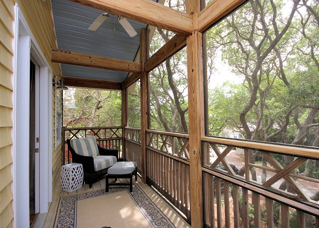 Private Screened Balcony off Master Suite