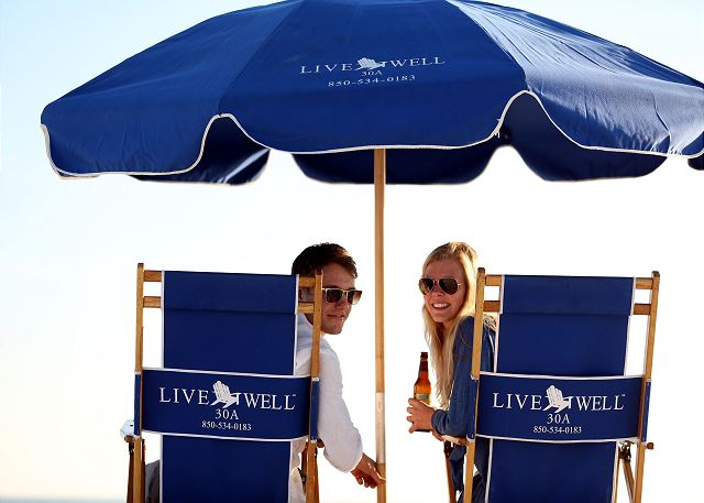 Beach Chair Rentals with Live Well 30A
