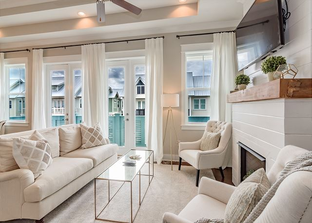 Living Space with Balcony Views