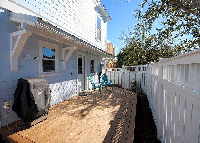 Private Deck Space with BBQ Grill & Outdoor Shower