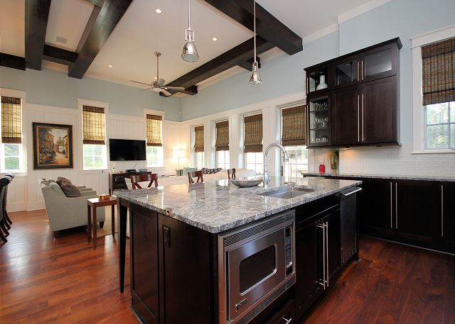 Oversized Kitchen with Granite Countertops