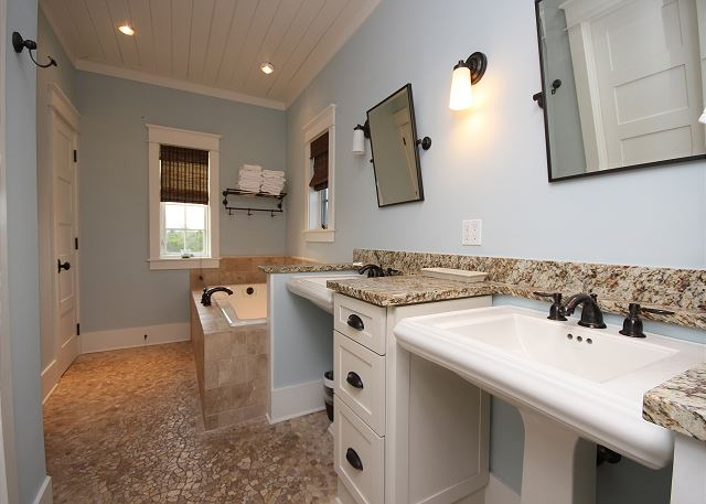 Designer Master Bath with Shower, Stand Alone Tub, & Dual Sinks