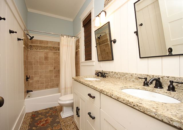 Shared Guest Bathroom with Dual Sinks