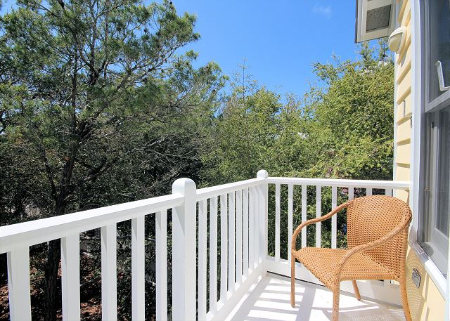 Upstairs Private Balcony