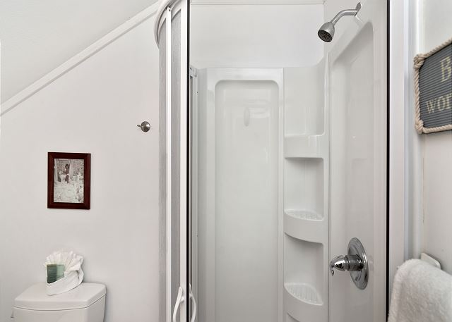 Upstairs Guest Bath (shower only)