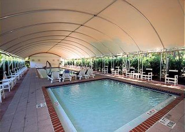 Avoid the sun at the covered pool!