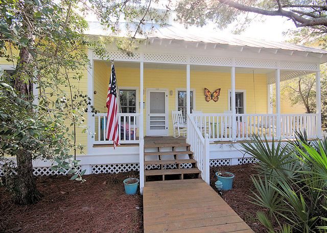 Beachside Kiss with Beautiful Front Porch