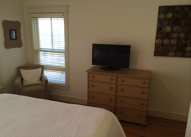 Alternate View of King Master Bedroom with Flat Screen TV
