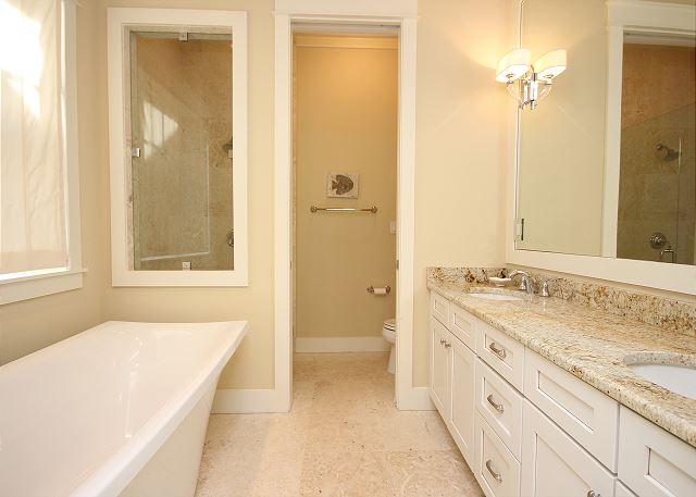 Master Bath with Designer Tub & Separate Shower