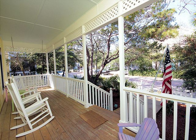 Front Porch with Rockers & Swing