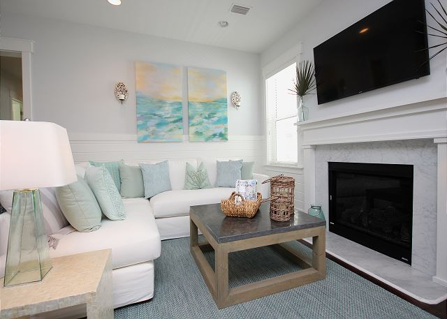 Living Room with HD Smart TV