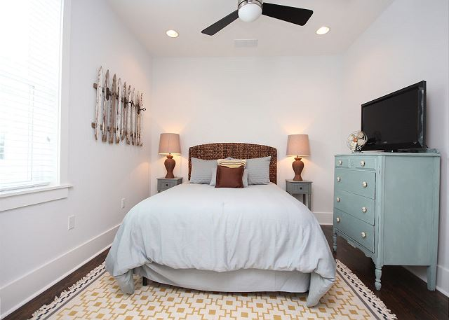 Queen Guest Bedroom with Flat Screen TV